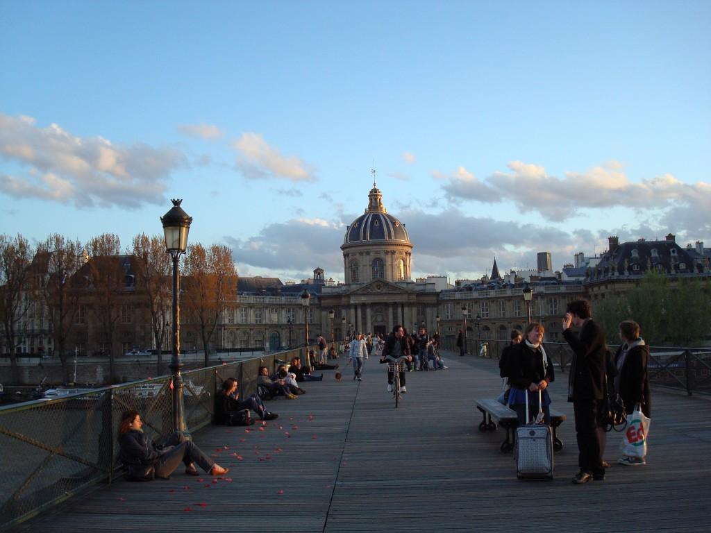 Solnedgang ved Pont des Arts