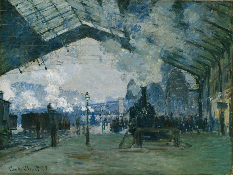 Claude Monet - Gare saint-Lazare (1877) tog mobilitet