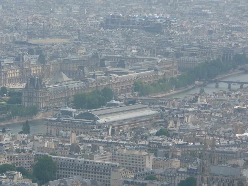 Udsigten fra toppen af Eiffeltårnet
