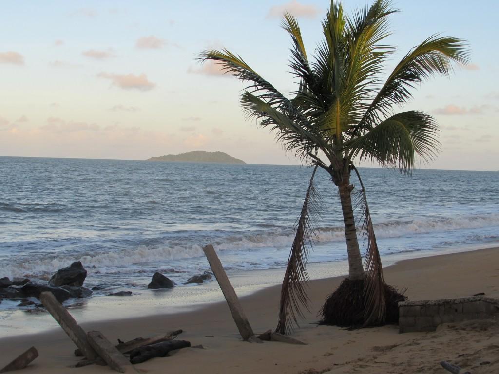 Fransk Guyana stranden Cayenne