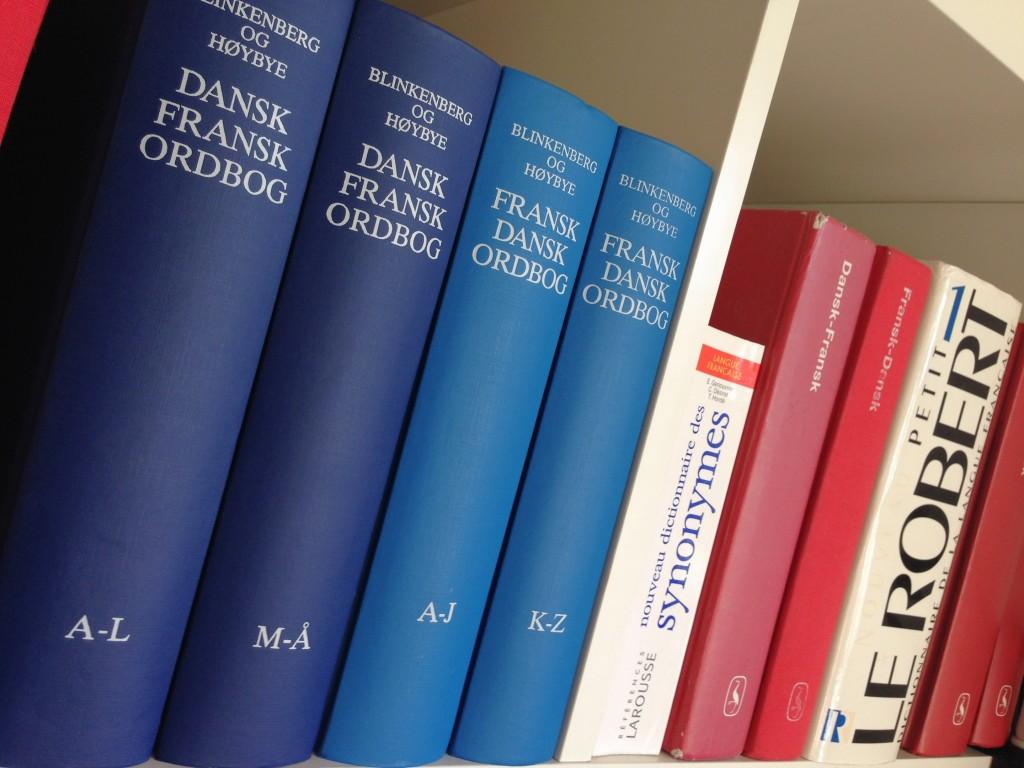 Blinkenberg ordbøger reol