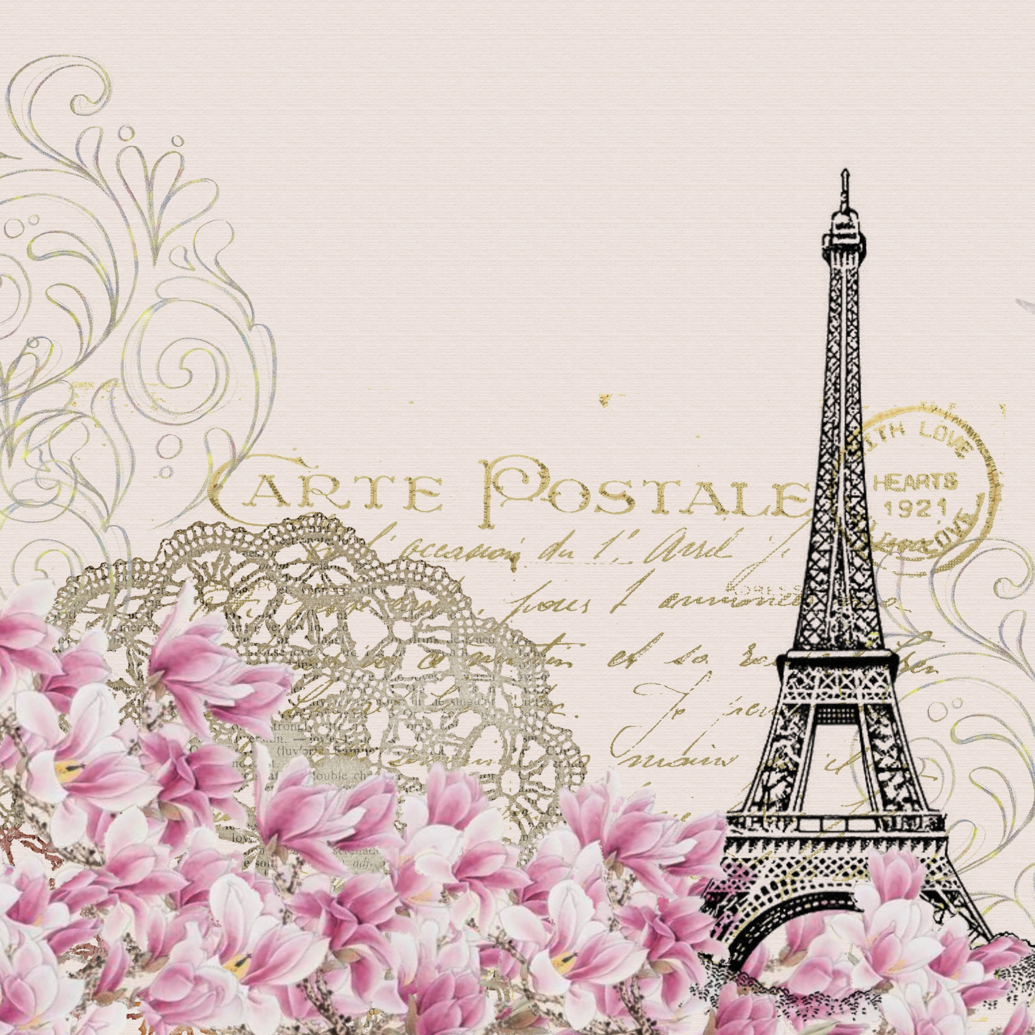 Brev Paris Eiffeltårnet Mailingliste