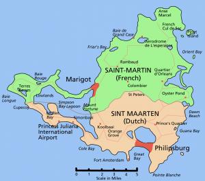 Saint-Martin map