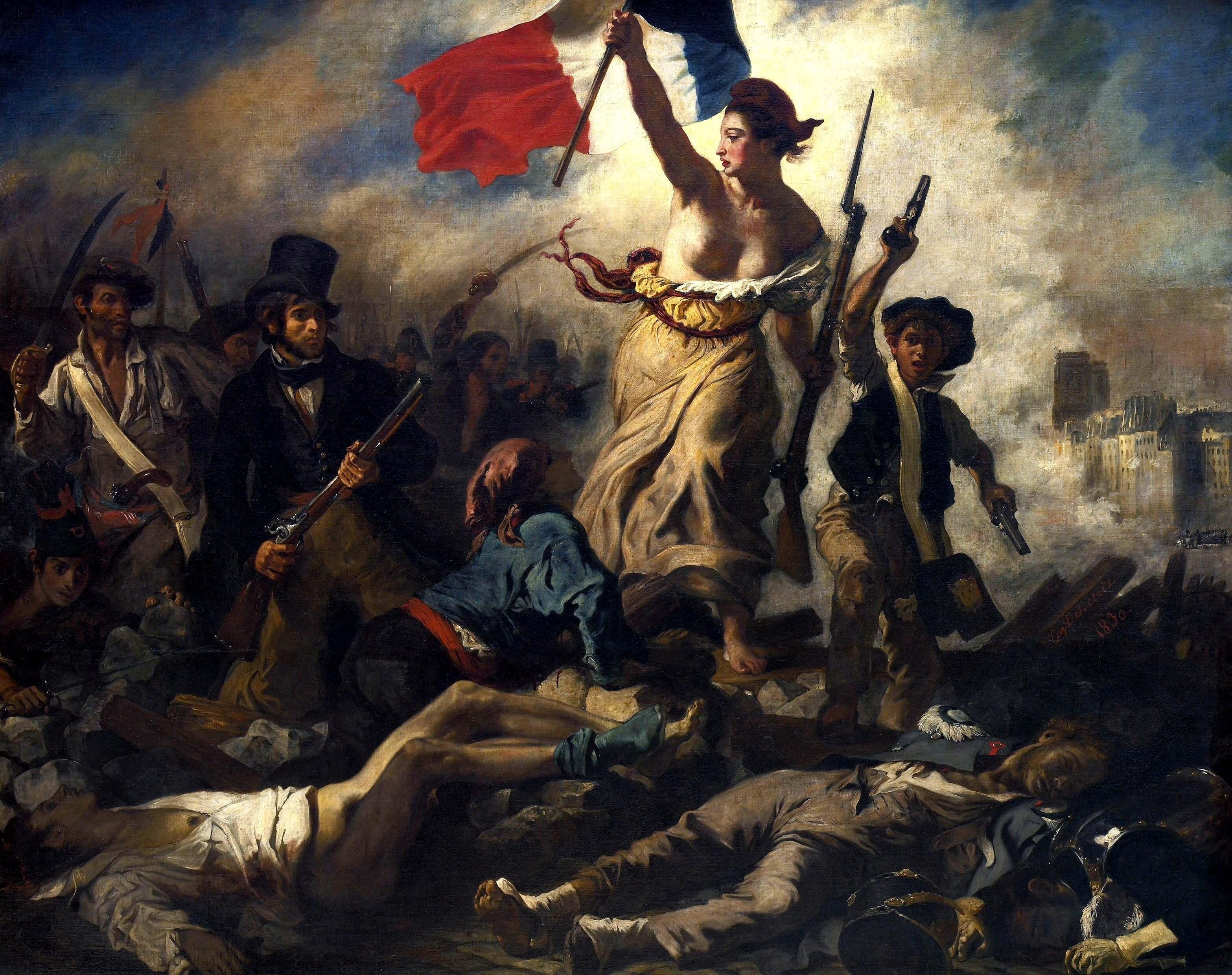 Eugène Delacroix. La liberté guidant le peuple (1830)
