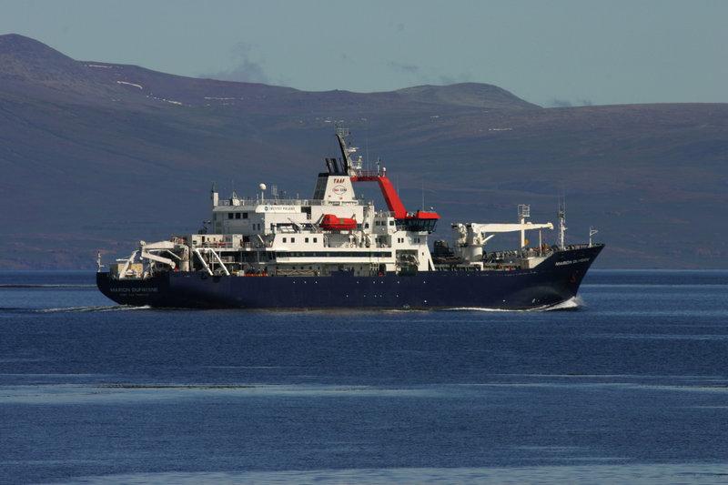 Forsyningsskibet Marion Dufresne II, ved Kerguelen