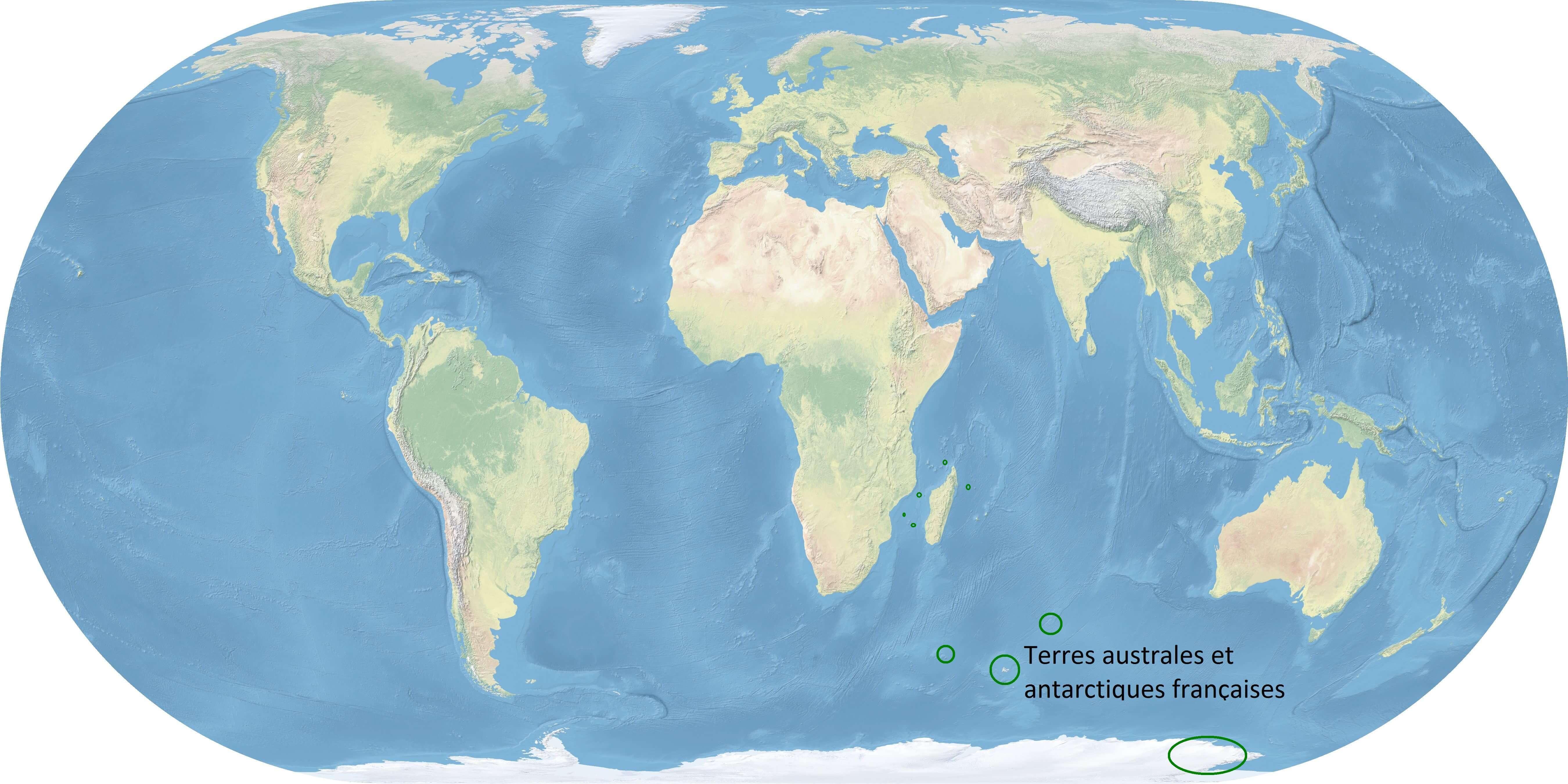 Terres australes et antarctiques françaises Franske antarktiske og australske områder