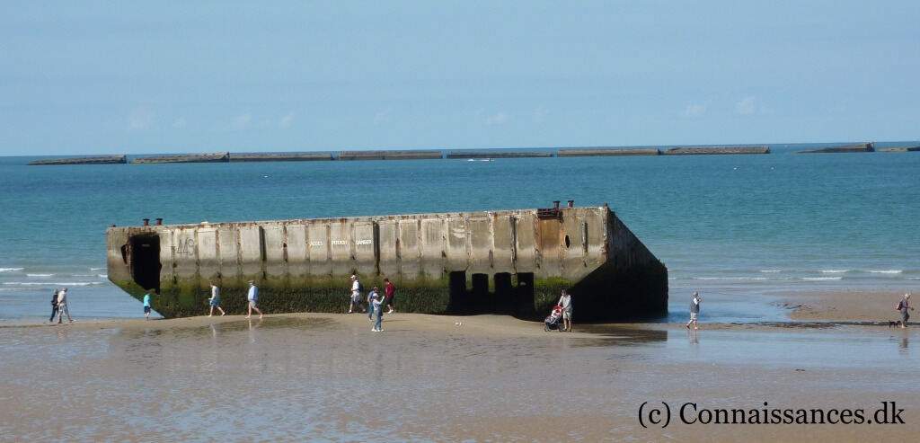 Arromanches Mulberry Harbour d-day